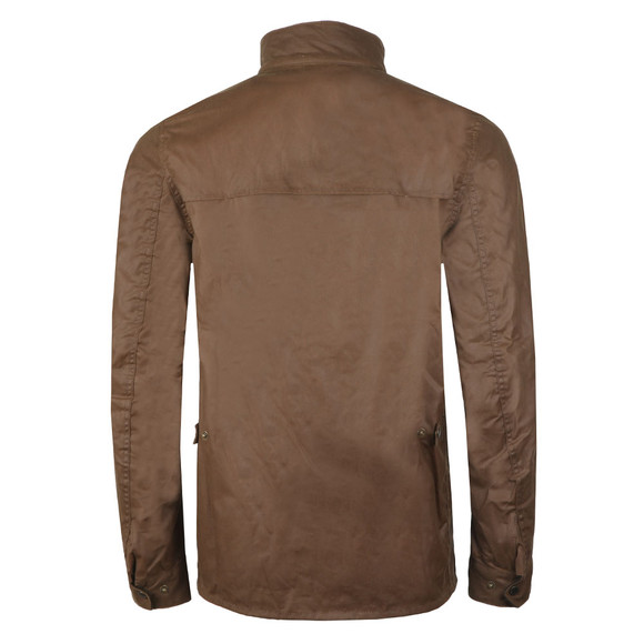 Barbour International Mens Beige Rake Wax Jacket main image