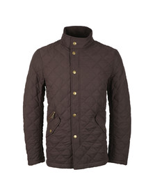 Barbour Lifestyle Mens Brown Shoverler  Quilt Jacket