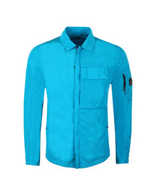 C.P. Company Mens Blue Nylon Chrome Overshirt