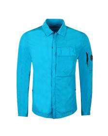 CP Company Mens Blue Nylon Chrome Overshirt