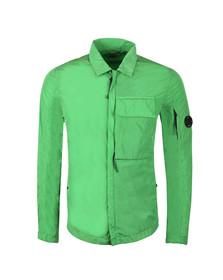 CP Company Mens Green Nylon Chrome Overshirt