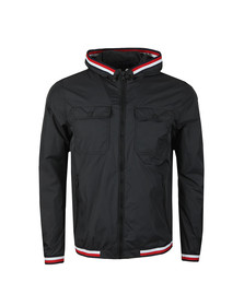 Tommy Hilfiger Mens Black Hooded Nylon Tape Jacket