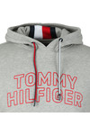 Tommy Hilfiger Mens Grey Chest Logo Hood
