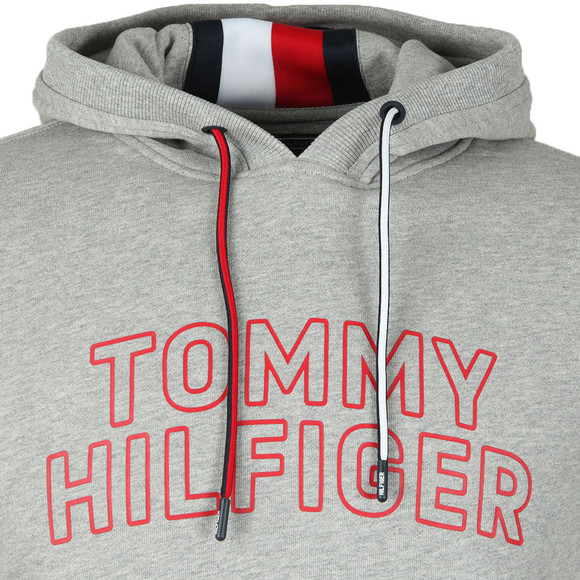 Tommy Hilfiger Mens Grey Chest Logo Hood main image