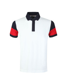 Tommy Hilfiger Mens White S/S ColourBlock Polo