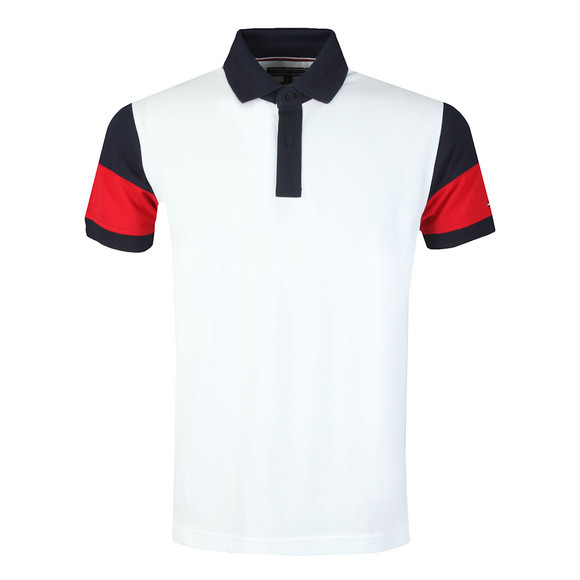 Tommy Hilfiger Mens White S/S ColourBlock Polo main image