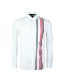 Tommy Hilfiger Mens White L/S Global Stripe Shirt