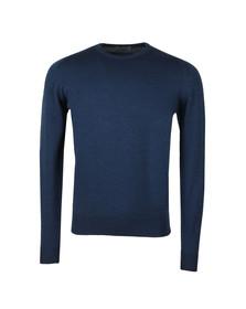 John Smedley Mens Blue Farhill Crew Neck Pullover