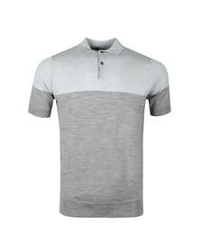 John Smedley Mens Silver Toller Colour Block Polo Shirt