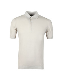 John Smedley Mens Beige Roth Pique Short Sleeve Shirt