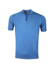 John Smedley Mens Blue Payton Polo Shirt