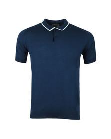 John Smedley Mens Blue Klerk Tipped Polo Shirt