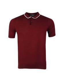 John Smedley Mens Red Klerk Tipped Polo Shirt