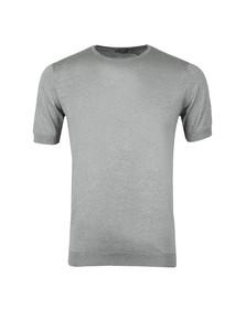 John Smedley Mens Silver Belden Crew Neck T Shirt
