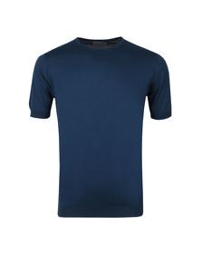 John Smedley Mens Blue Belden Crew Neck T Shirt
