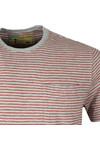 Barbour Int. Steve McQueen Mens Grey S/S Patrol Pocket Stripe Tee