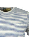Barbour Int. Steve McQueen Mens Off-White S/S Patrol Pocket Stripe Tee