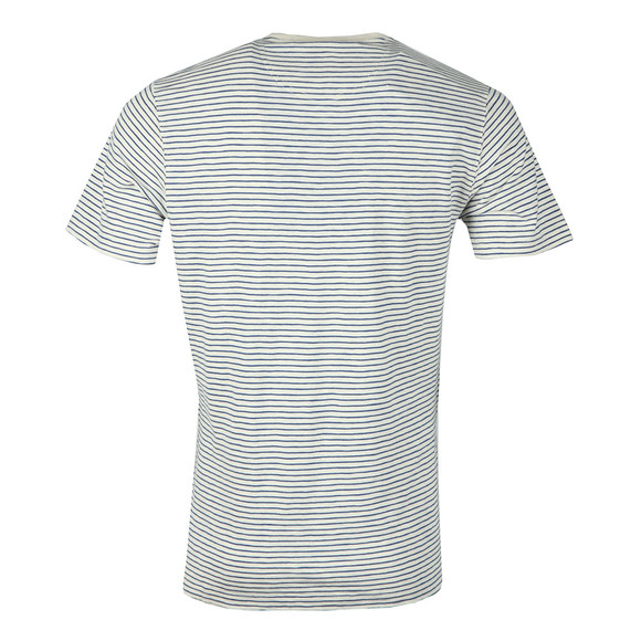 Barbour Int. Steve McQueen Mens Off-White S/S Patrol Pocket Stripe Tee main image