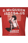 Barbour Int. Steve McQueen Mens Red S/S Military Flag Tee