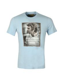 Barbour Int. Steve McQueen Mens Blue S/S SMQ Profile Tee
