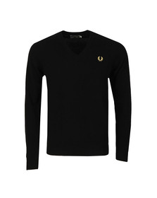 Fred Perry (Reissues) Mens Black V Neck Jumper