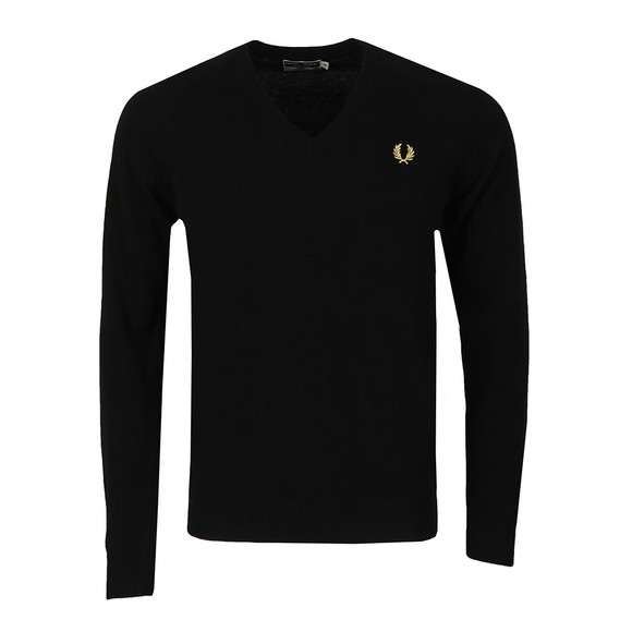 Fred Perry (Reissues) Mens Black V Neck Jumper main image