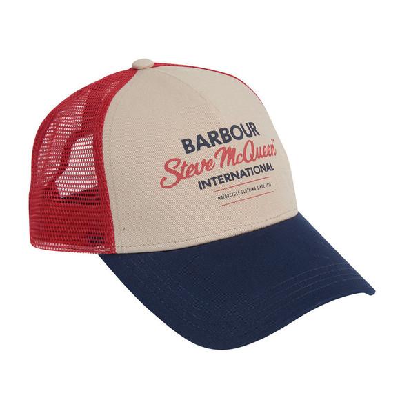Barbour Int. Steve McQueen Mens Blue Trucker Cap main image