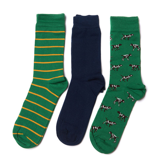 Barbour Lifestyle Mens Blue Dog Sock Gift Set main image