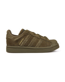 Adidas Originals Boys Green Childrens Superstar Trainer