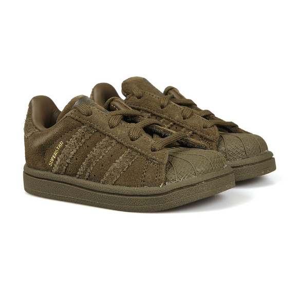 Adidas Originals Boys Green Childrens Superstar Trainer main image