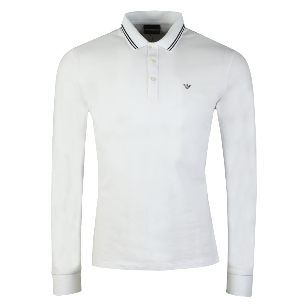 71e7c948b Emporio Armani 8N1F36 Tipped Long Sleeve Polo | Oxygen Clothing