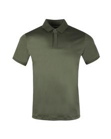 Emporio Armani Mens Green 3Z1F62 Jersey Polo Shirt