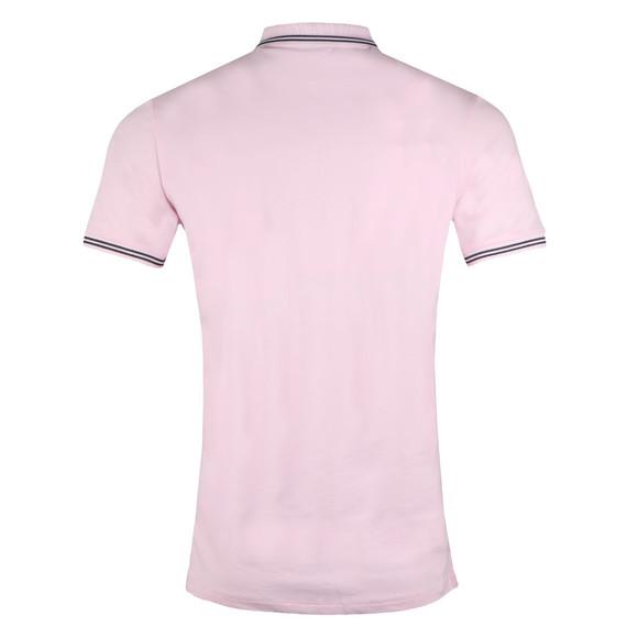 Emporio Armani Mens Pink 8N1F2B Tipped Polo Shirt main image