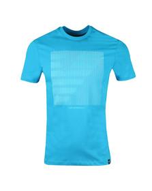 Emporio Armani Mens Blue Large Square Eagle T-Shirt
