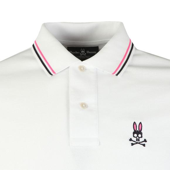 Psycho Bunny Mens White Neon Bunny Polo Shirt main image