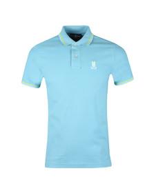 Psycho Bunny Mens Blue Neon Bunny Polo Shirt