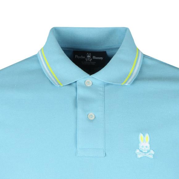 Psycho Bunny Mens Blue Neon Bunny Polo Shirt main image