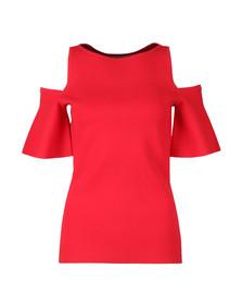 Michael Kors Womens Red Off Shoulder Top