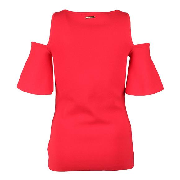Michael Kors Womens Red Off Shoulder Top main image