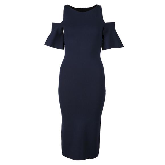 Michael Kors Womens Blue Off Shoulder Dress