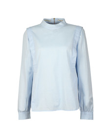 Maison Scotch Womens Blue High Neck Top With Zip