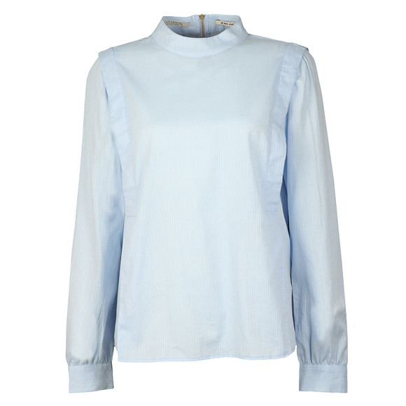 Maison Scotch Womens Blue High Neck Top With Zip main image