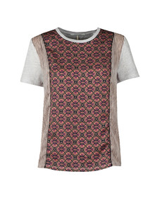 Maison Scotch Womens Multicoloured Photo Printed T Shirt