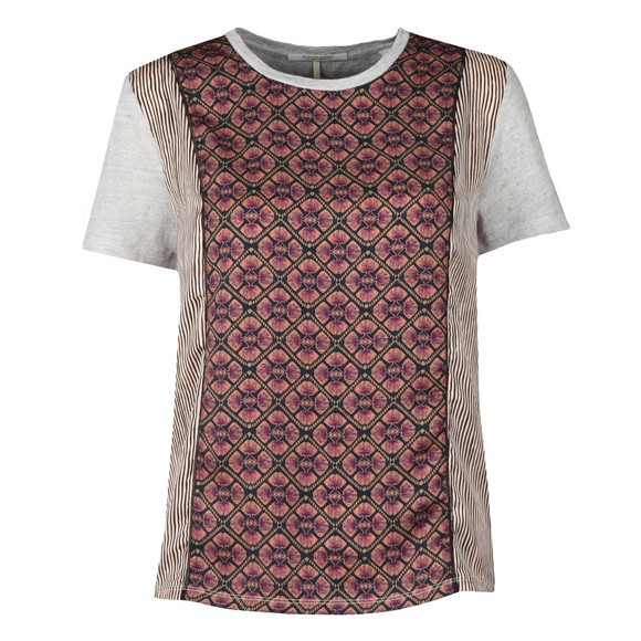 Maison Scotch Womens Multicoloured Photo Printed T Shirt main image