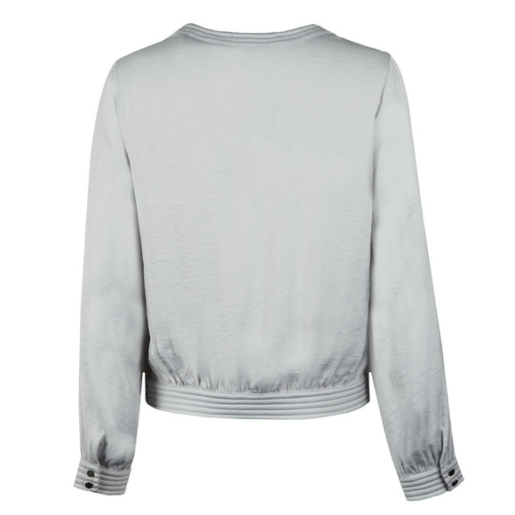 Maison Scotch Womens Silver Silky Top With Quilted Detail main image