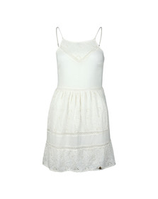 Superdry Womens White Lilah Schiffli Dress