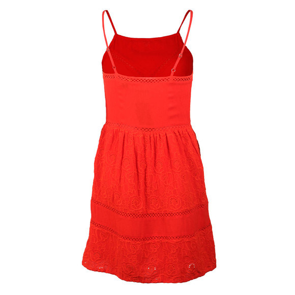 Superdry Womens Red Lilah Schiffli Dress