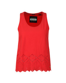 Superdry Womens Red Pacific Broderie Tank