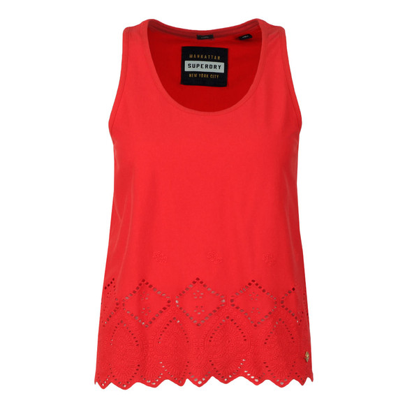 Superdry Womens Red Pacific Broderie Tank main image