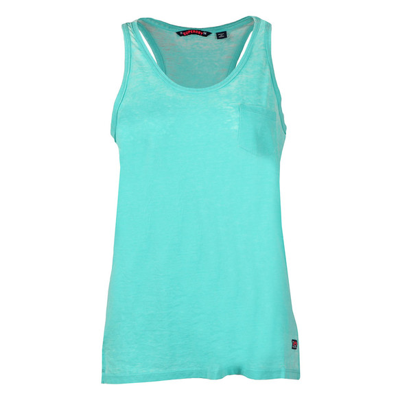 Superdry Womens Blue Burnout Pocket Vest main image